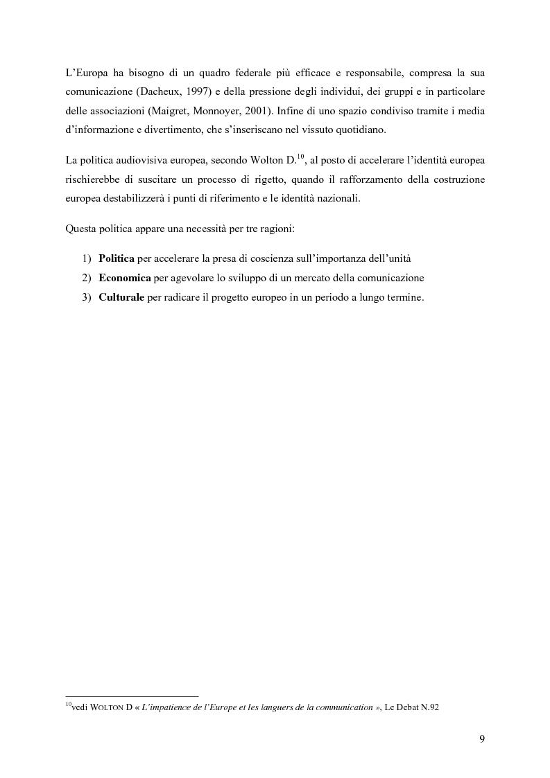 Anteprima della tesi: Un Medium Europeo per un opinione pubblica Europea, Pagina 7