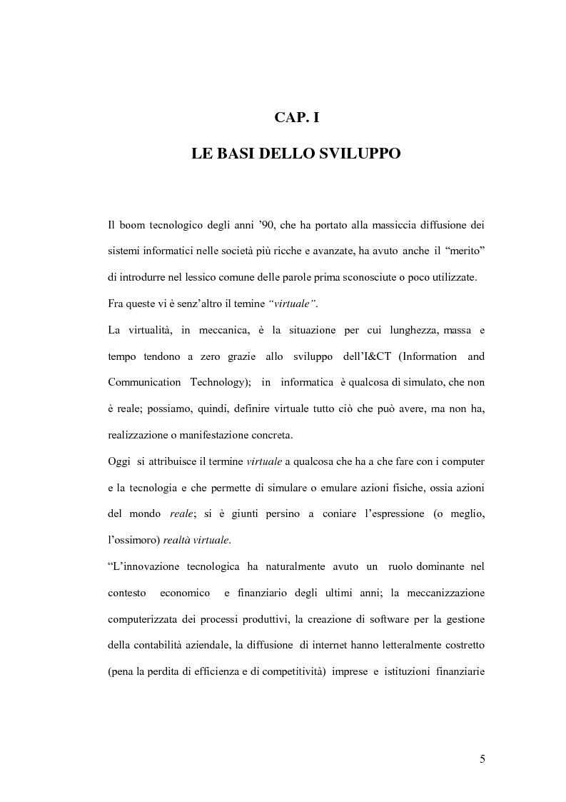 Anteprima della tesi: La banca virtuale: sviluppo e sue caratteristiche, Pagina 1