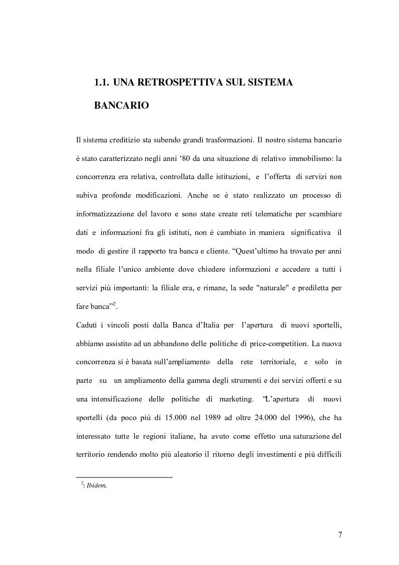 Anteprima della tesi: La banca virtuale: sviluppo e sue caratteristiche, Pagina 3