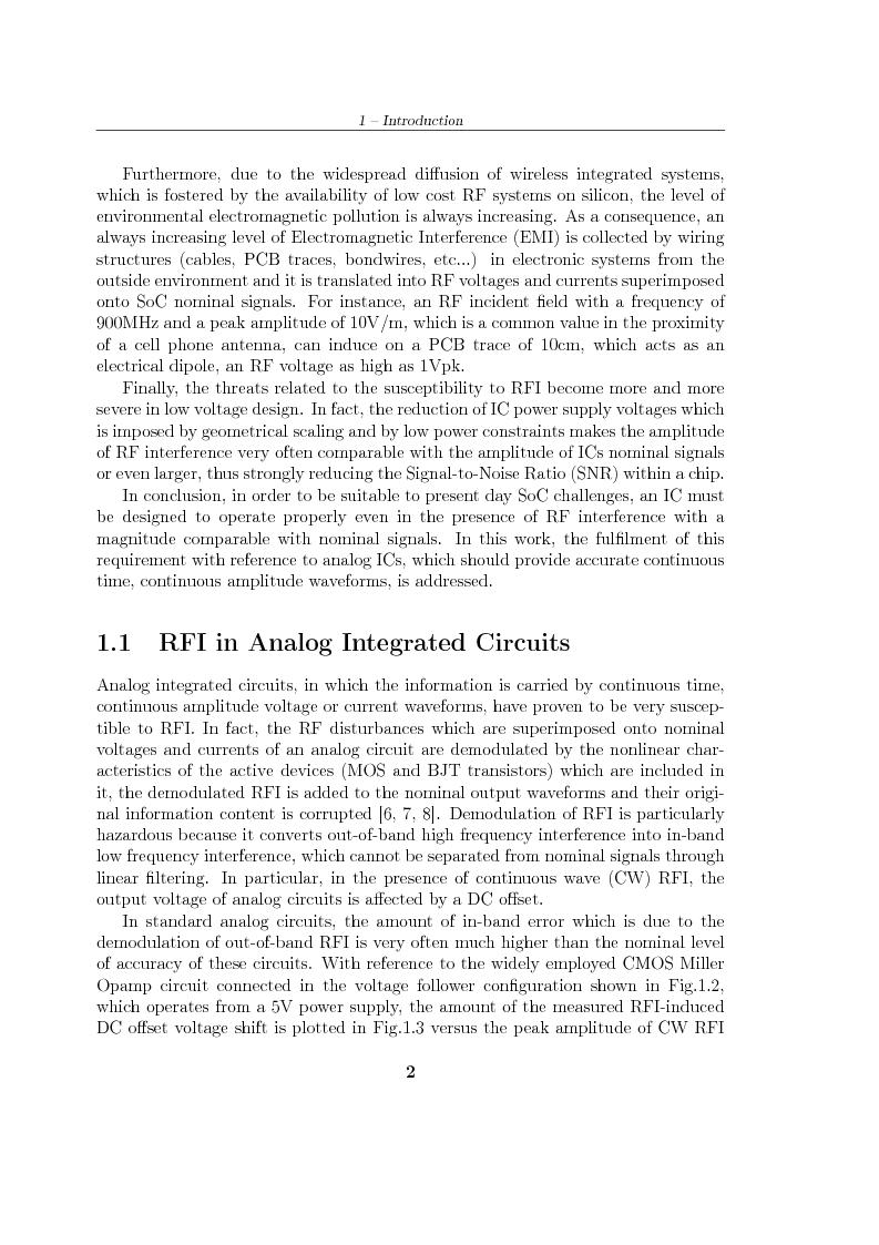 Anteprima della tesi: Design of Analog Integrated Circuits Robust to RF Interference, Pagina 2