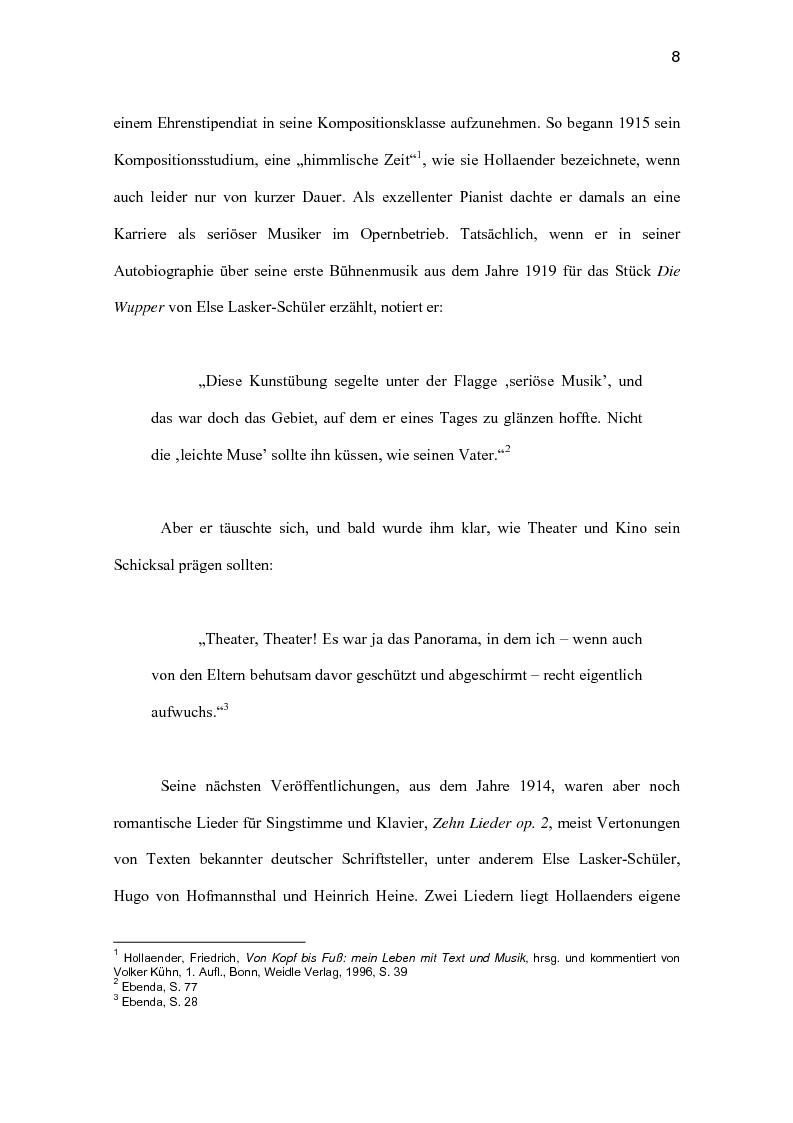 Anteprima della tesi: Friedrich Hollaender : Das deutsche Kabarett vor und nach dem zweiten Weltkrieg, Pagina 4