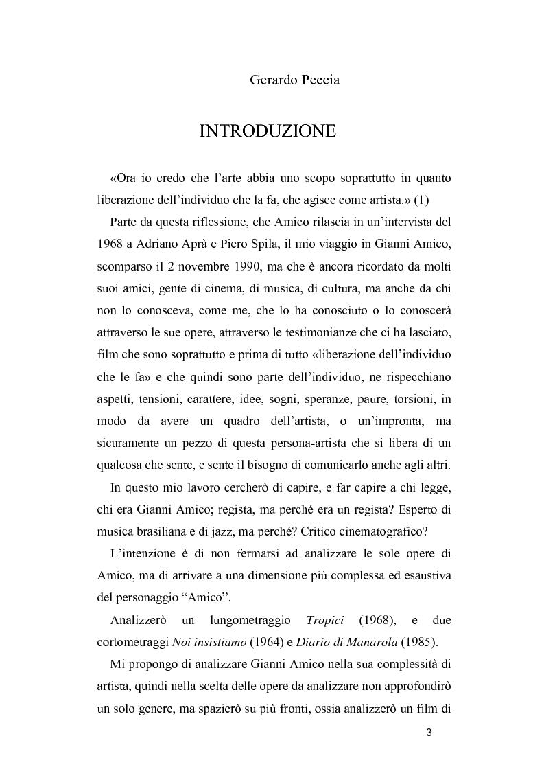 Anteprima della tesi: Gianni Amico tra documentario e finzione, Pagina 1