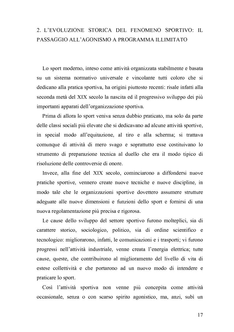 Anteprima della tesi: Il fenomeno sportivo nello Stato italiano tra la teoria pluralistico-ordinamentale e l'impostazione statualistica, Pagina 12