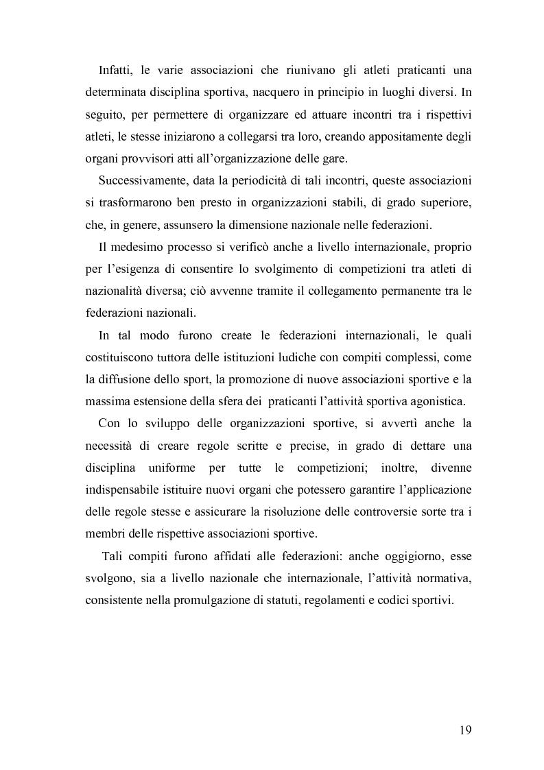 Anteprima della tesi: Il fenomeno sportivo nello Stato italiano tra la teoria pluralistico-ordinamentale e l'impostazione statualistica, Pagina 14