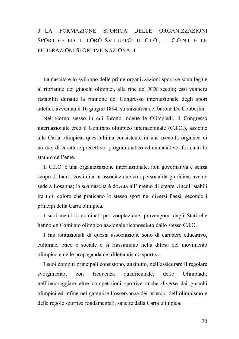 Anteprima della tesi: Il fenomeno sportivo nello Stato italiano tra la teoria pluralistico-ordinamentale e l'impostazione statualistica, Pagina 15