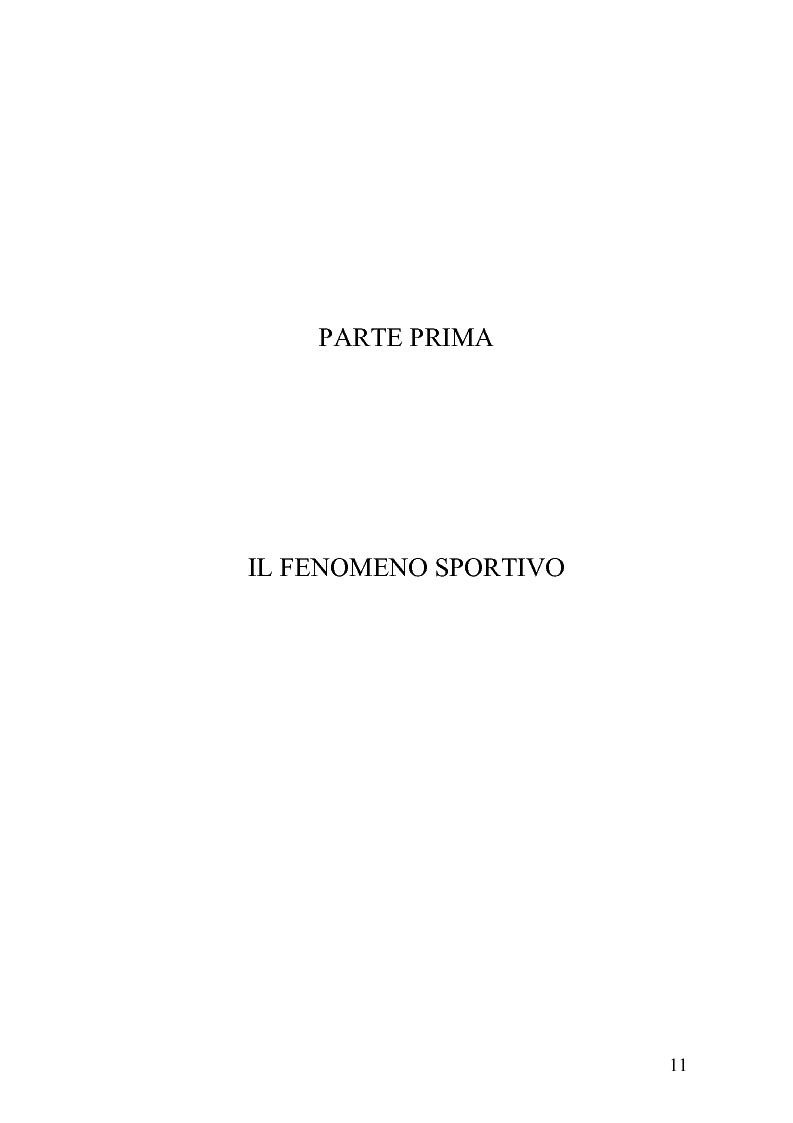Anteprima della tesi: Il fenomeno sportivo nello Stato italiano tra la teoria pluralistico-ordinamentale e l'impostazione statualistica, Pagina 6