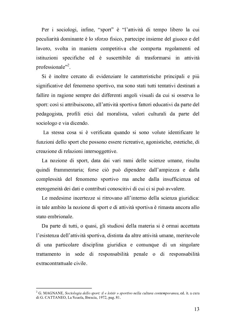 Anteprima della tesi: Il fenomeno sportivo nello Stato italiano tra la teoria pluralistico-ordinamentale e l'impostazione statualistica, Pagina 8
