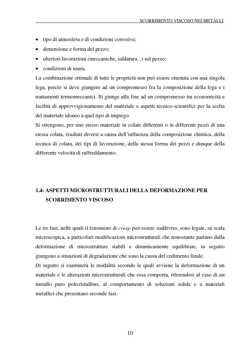 Anteprima della tesi: Scorrimento viscoso e danneggiamento in compositi a matrice metallica, Pagina 10