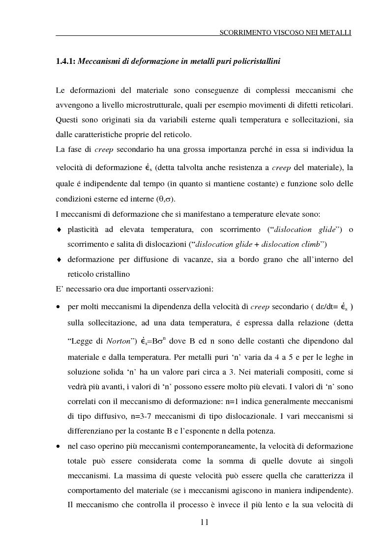 Anteprima della tesi: Scorrimento viscoso e danneggiamento in compositi a matrice metallica, Pagina 11