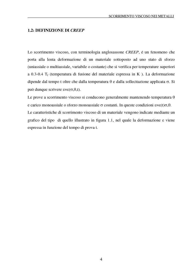 Anteprima della tesi: Scorrimento viscoso e danneggiamento in compositi a matrice metallica, Pagina 4