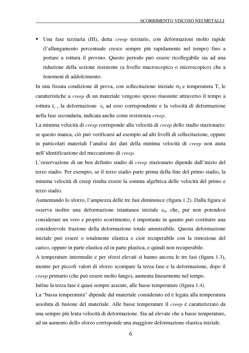 Anteprima della tesi: Scorrimento viscoso e danneggiamento in compositi a matrice metallica, Pagina 6