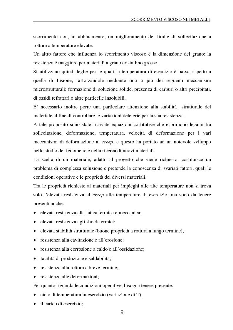 Anteprima della tesi: Scorrimento viscoso e danneggiamento in compositi a matrice metallica, Pagina 9