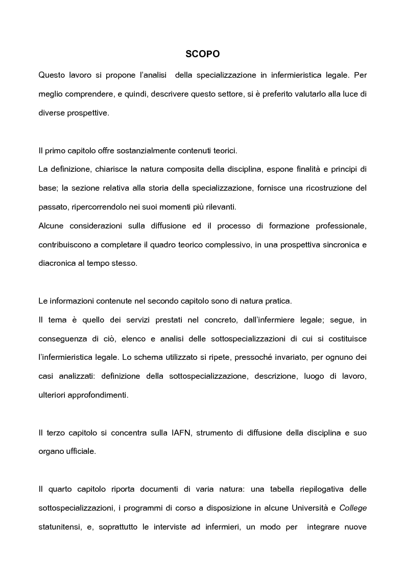 Anteprima della tesi: L'infermieristica legale ''Nurse Forensic'', Pagina 2