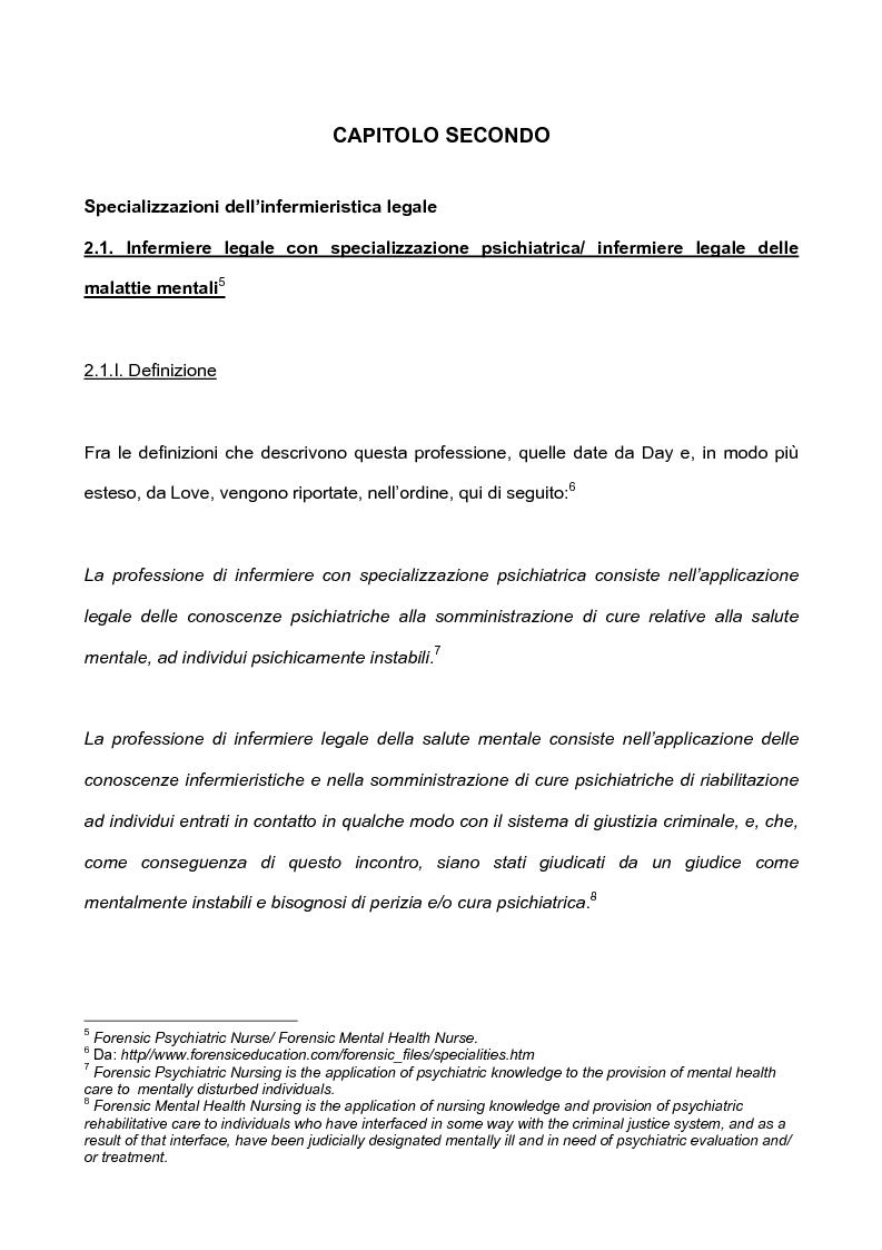 Anteprima della tesi: L'infermieristica legale ''Nurse Forensic'', Pagina 7