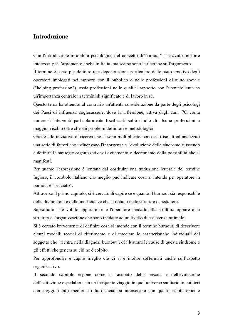 Anteprima della tesi: Dinamiche relazionali e organizzative in un contesto ospedaliero, Pagina 1