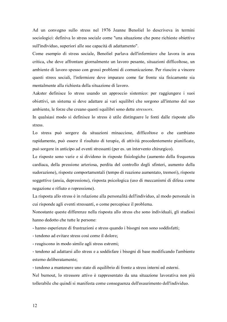 Anteprima della tesi: Dinamiche relazionali e organizzative in un contesto ospedaliero, Pagina 10