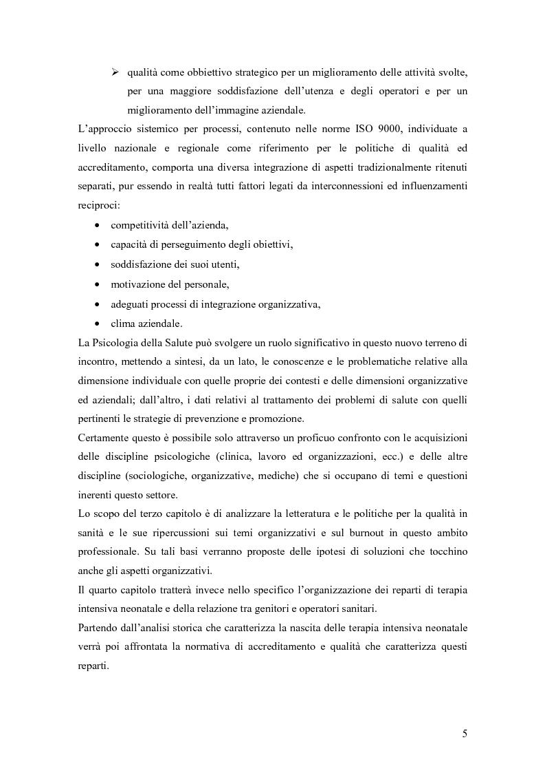 Anteprima della tesi: Dinamiche relazionali e organizzative in un contesto ospedaliero, Pagina 3