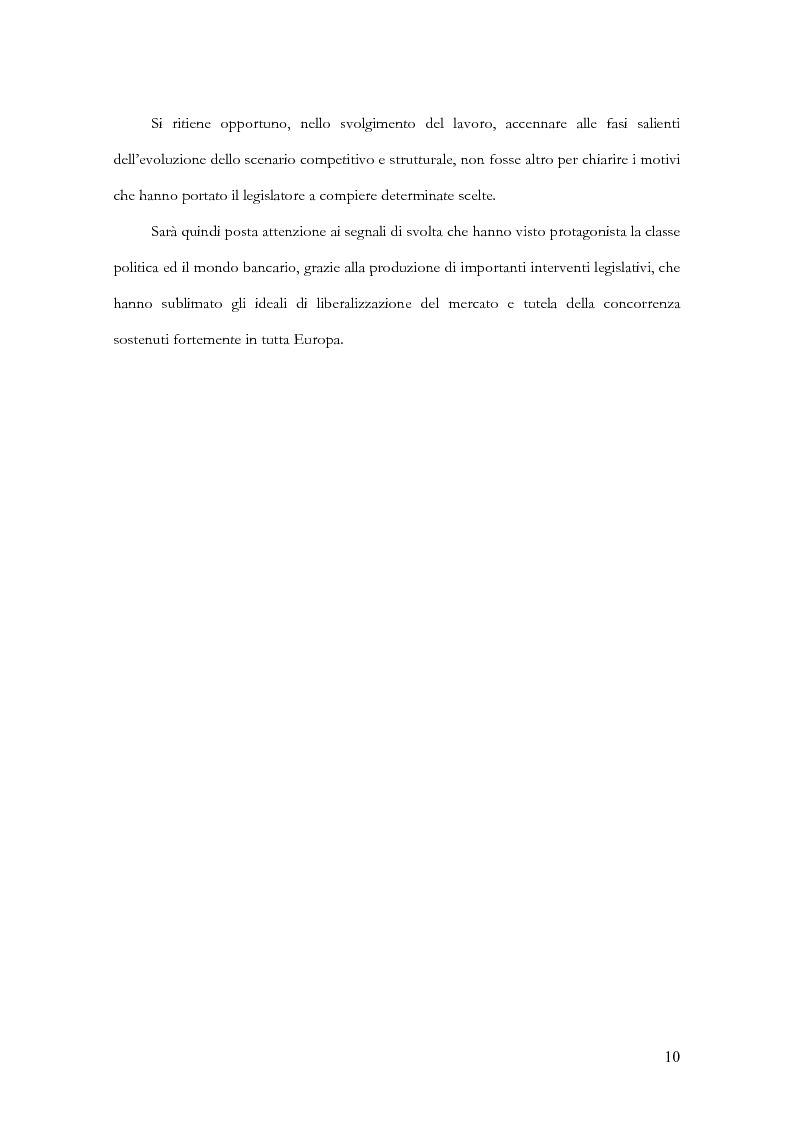 Anteprima della tesi: Profili evolutivi della trasparenza bancaria: dal testo unico delle leggi in materia bancaria e creditizia al progetto PattiChiari, Pagina 6