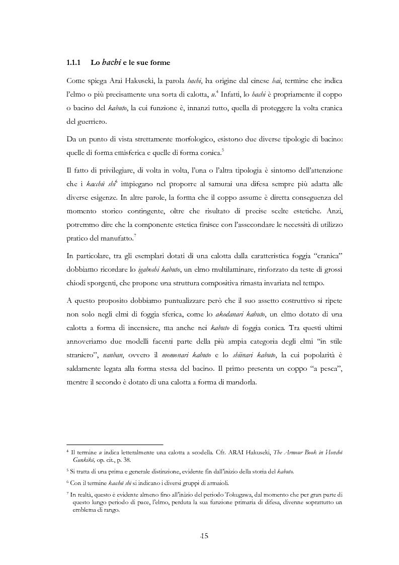 Anteprima della tesi: Kabuto, Jingasa eMengu: evoluzione storica e studio dell'elmo giapponese con speciale riferimento agli esemplari delle civiche raccolte milanesi, Pagina 11