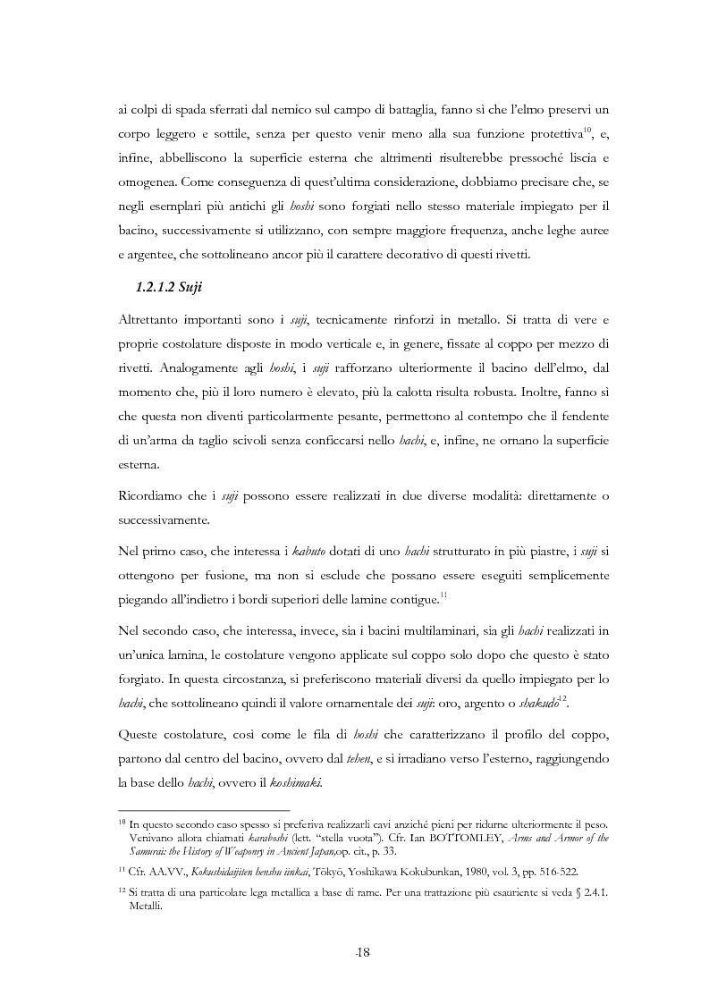 Anteprima della tesi: Kabuto, Jingasa eMengu: evoluzione storica e studio dell'elmo giapponese con speciale riferimento agli esemplari delle civiche raccolte milanesi, Pagina 14