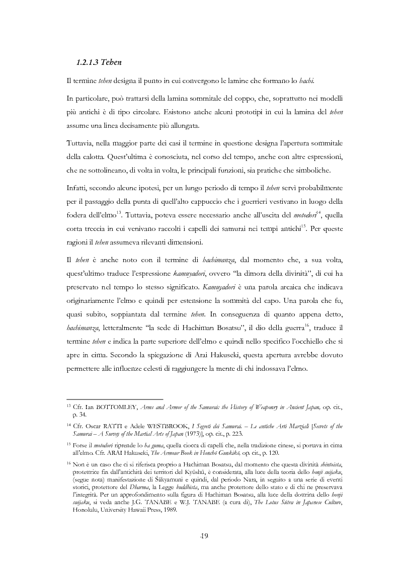 Anteprima della tesi: Kabuto, Jingasa eMengu: evoluzione storica e studio dell'elmo giapponese con speciale riferimento agli esemplari delle civiche raccolte milanesi, Pagina 15
