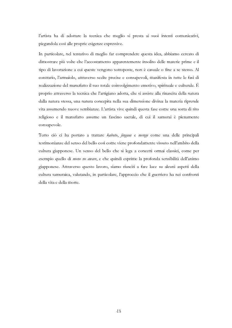 Anteprima della tesi: Kabuto, Jingasa eMengu: evoluzione storica e studio dell'elmo giapponese con speciale riferimento agli esemplari delle civiche raccolte milanesi, Pagina 7
