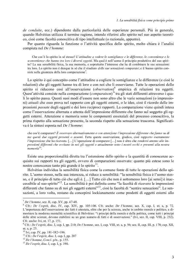 Anteprima della tesi: Felicità e società nel pensiero di C.-A. Helvétius, Pagina 6