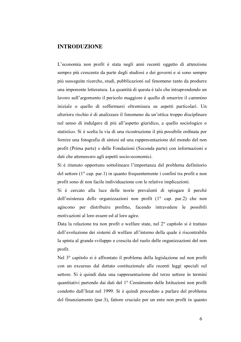 Anteprima della tesi: Non profit e fondazioni, Pagina 1