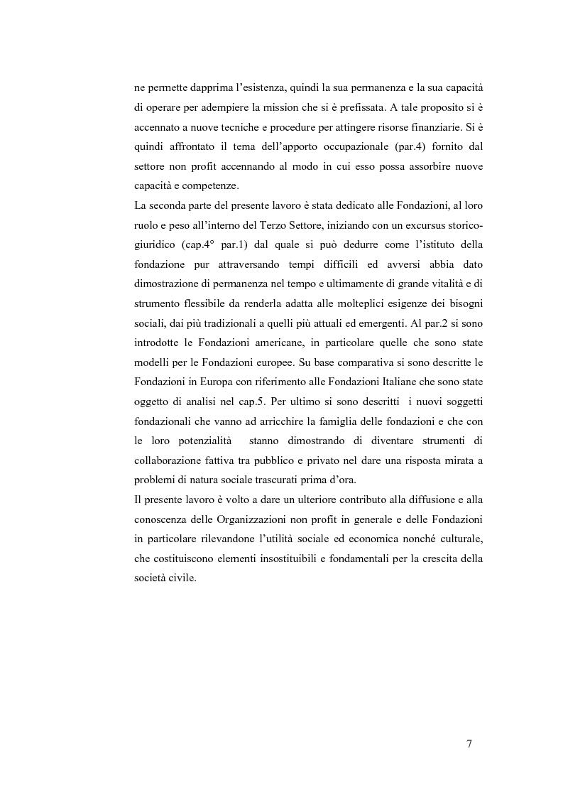 Anteprima della tesi: Non profit e fondazioni, Pagina 2