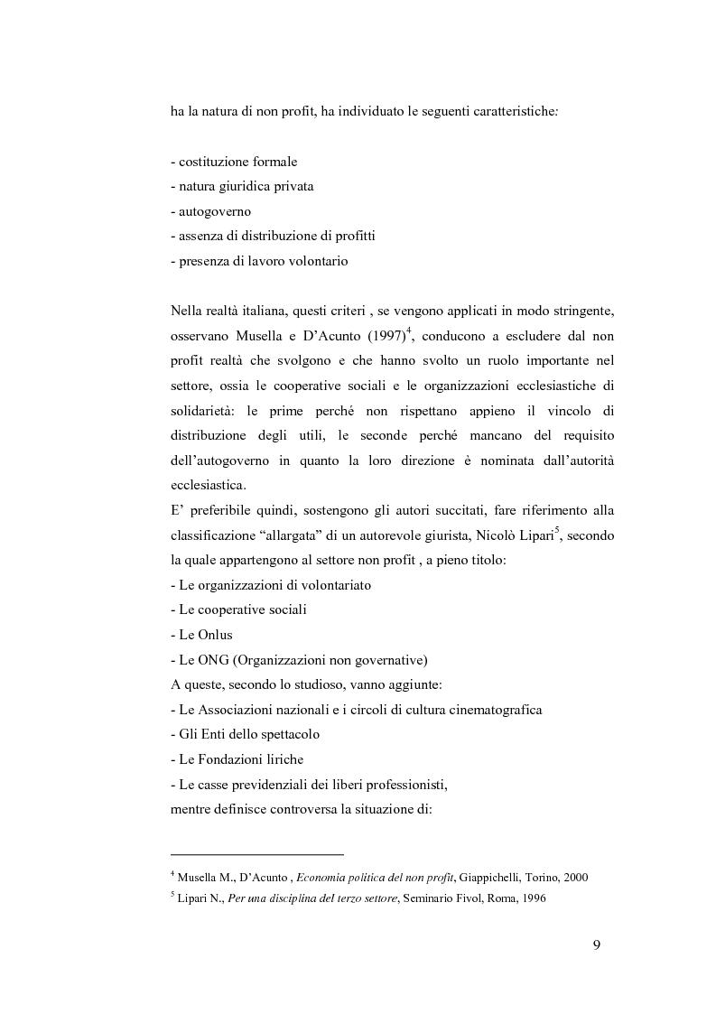 Anteprima della tesi: Non profit e fondazioni, Pagina 4