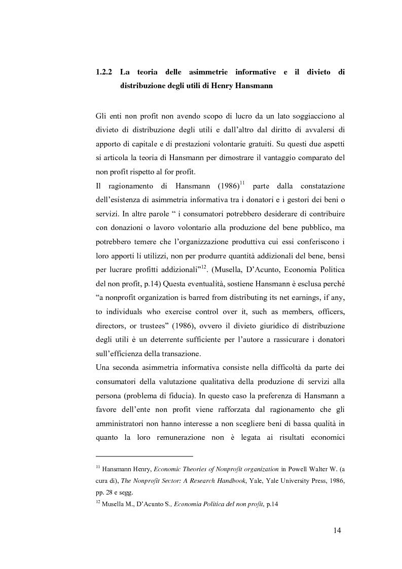 Anteprima della tesi: Non profit e fondazioni, Pagina 9