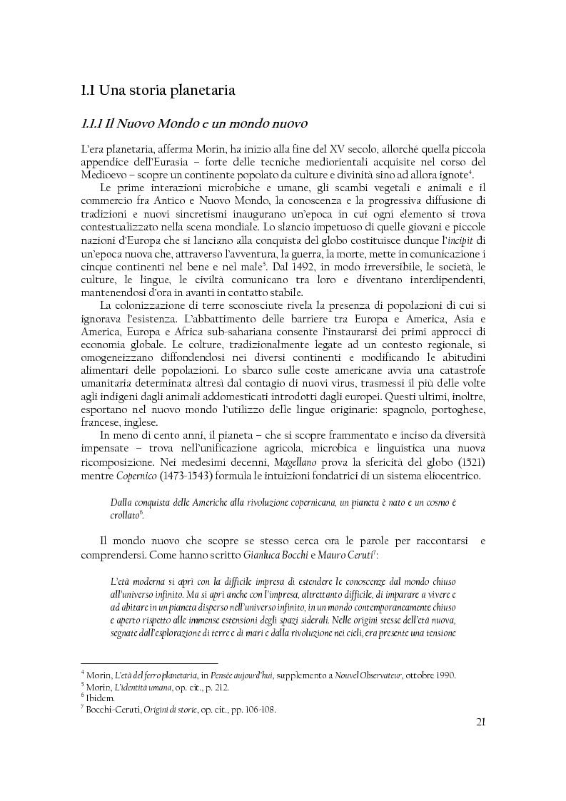 Anteprima della tesi: Comunità di destino. Educare alla complessità nell'era planetaria secondo il pensiero di Edgar Morin, Pagina 10