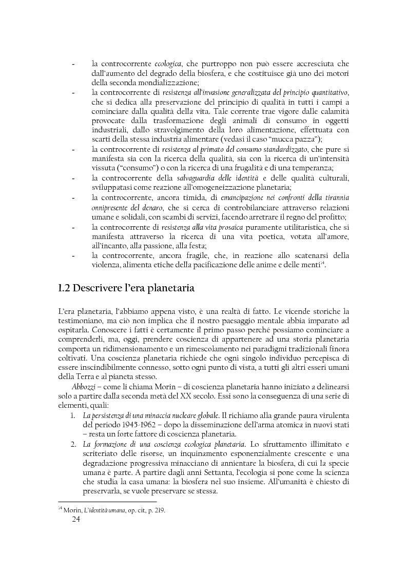 Anteprima della tesi: Comunità di destino. Educare alla complessità nell'era planetaria secondo il pensiero di Edgar Morin, Pagina 13
