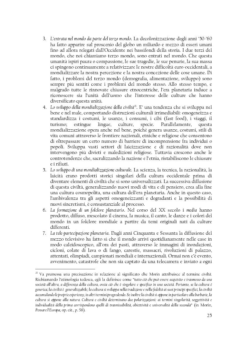 Anteprima della tesi: Comunità di destino. Educare alla complessità nell'era planetaria secondo il pensiero di Edgar Morin, Pagina 14