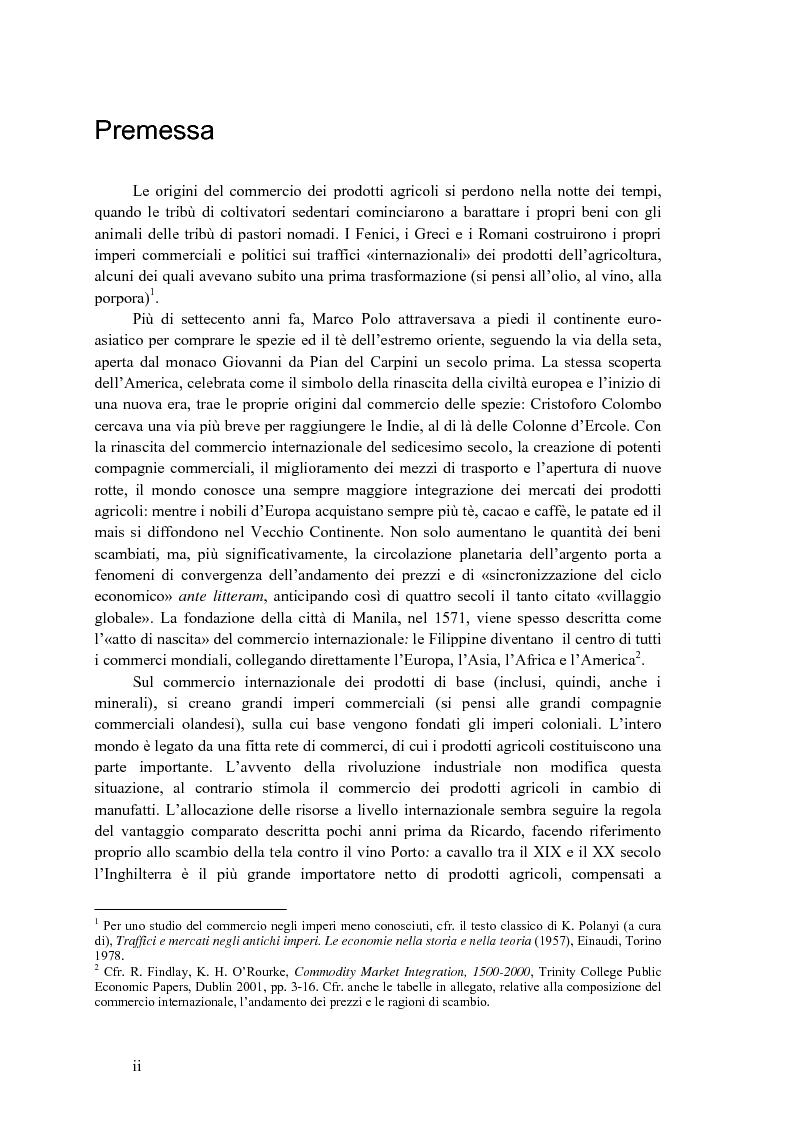 Anteprima della tesi: La disciplina internazionale del commercio dei prodotti agricoli: l'Organizzazione mondiale del commercio e la Comunità europea, Pagina 1