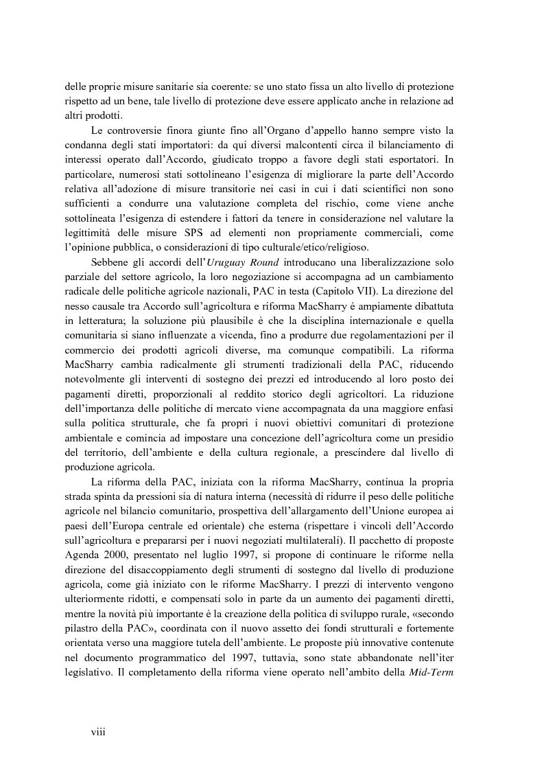 Anteprima della tesi: La disciplina internazionale del commercio dei prodotti agricoli: l'Organizzazione mondiale del commercio e la Comunità europea, Pagina 7