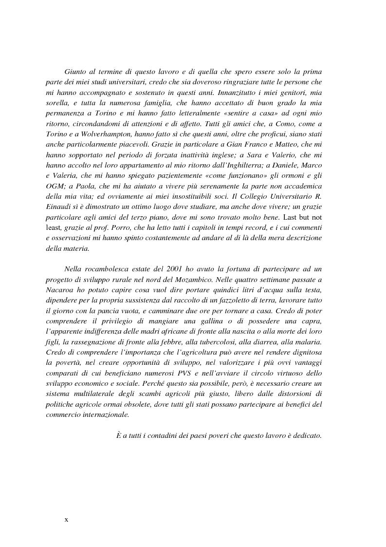 Anteprima della tesi: La disciplina internazionale del commercio dei prodotti agricoli: l'Organizzazione mondiale del commercio e la Comunità europea, Pagina 9