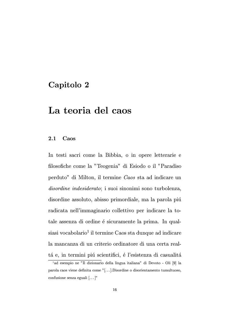 Anteprima della tesi: Non linearità e perturbazioni nei mercati. Analisi dinamica microfondata di un modello con scorte, Pagina 7