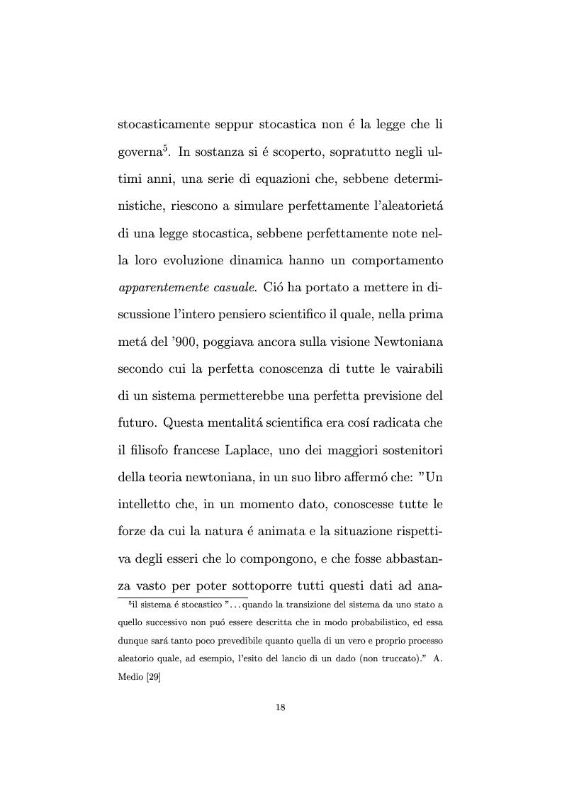 Anteprima della tesi: Non linearità e perturbazioni nei mercati. Analisi dinamica microfondata di un modello con scorte, Pagina 9