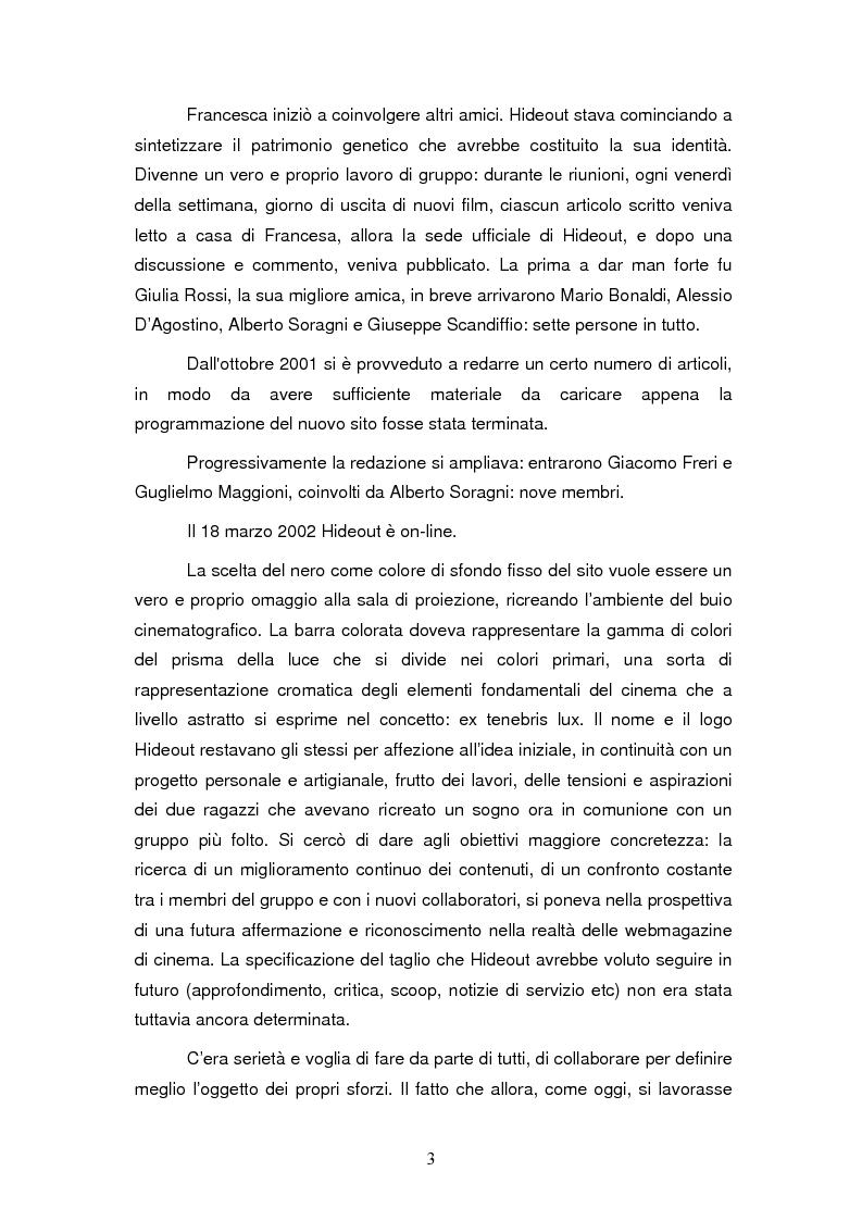 Anteprima della tesi: La costruzione dell'identità di gruppo: il caso Hideout, Pagina 3