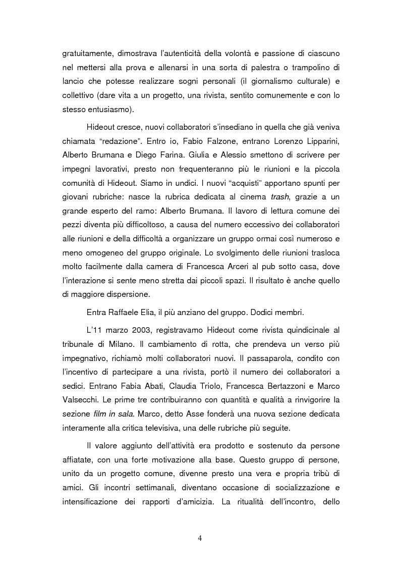 Anteprima della tesi: La costruzione dell'identità di gruppo: il caso Hideout, Pagina 4