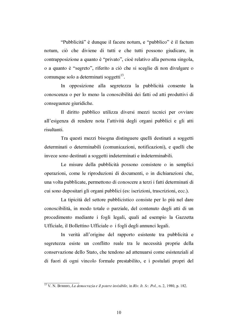 Anteprima della tesi: Il segreto di Stato alla luce dell'evoluzione del diritto all'informazione, Pagina 10
