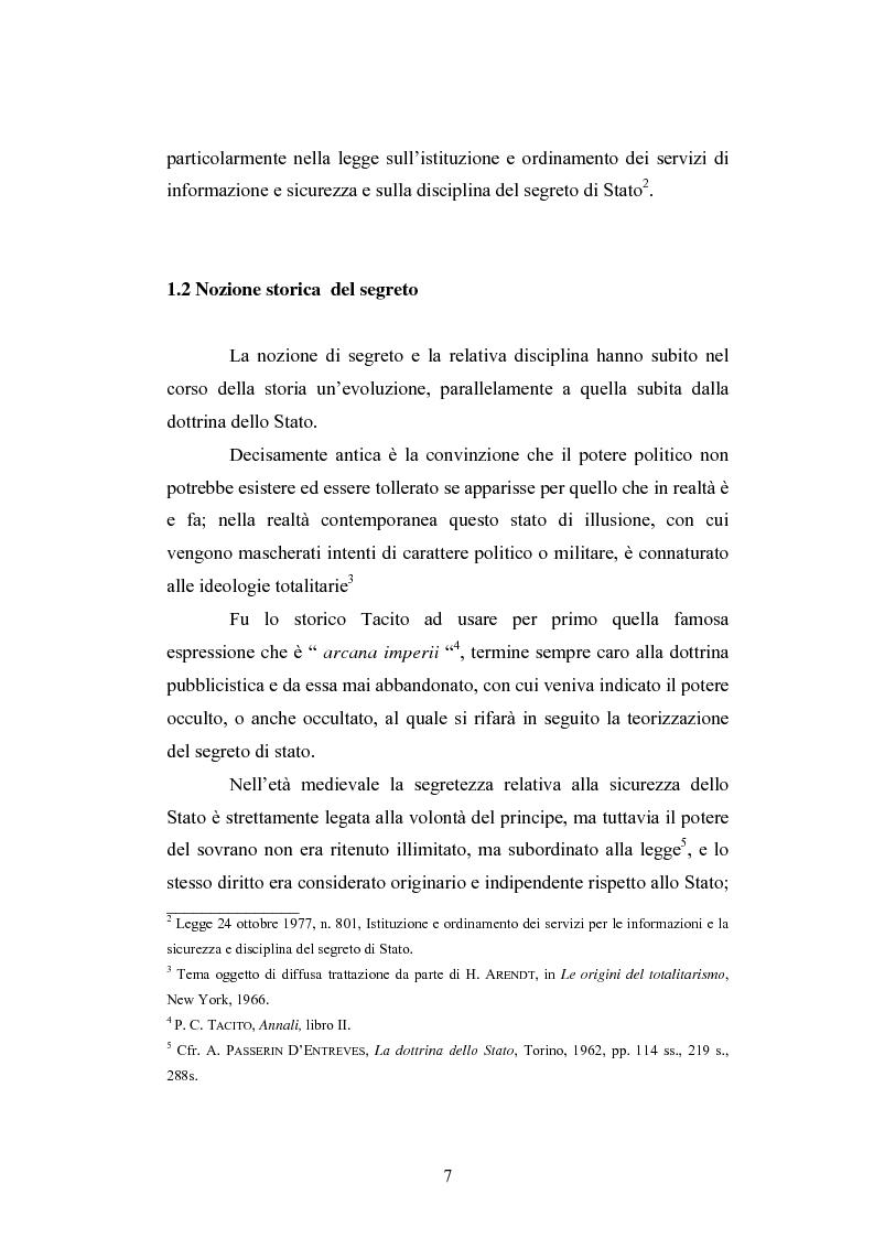 Anteprima della tesi: Il segreto di Stato alla luce dell'evoluzione del diritto all'informazione, Pagina 7