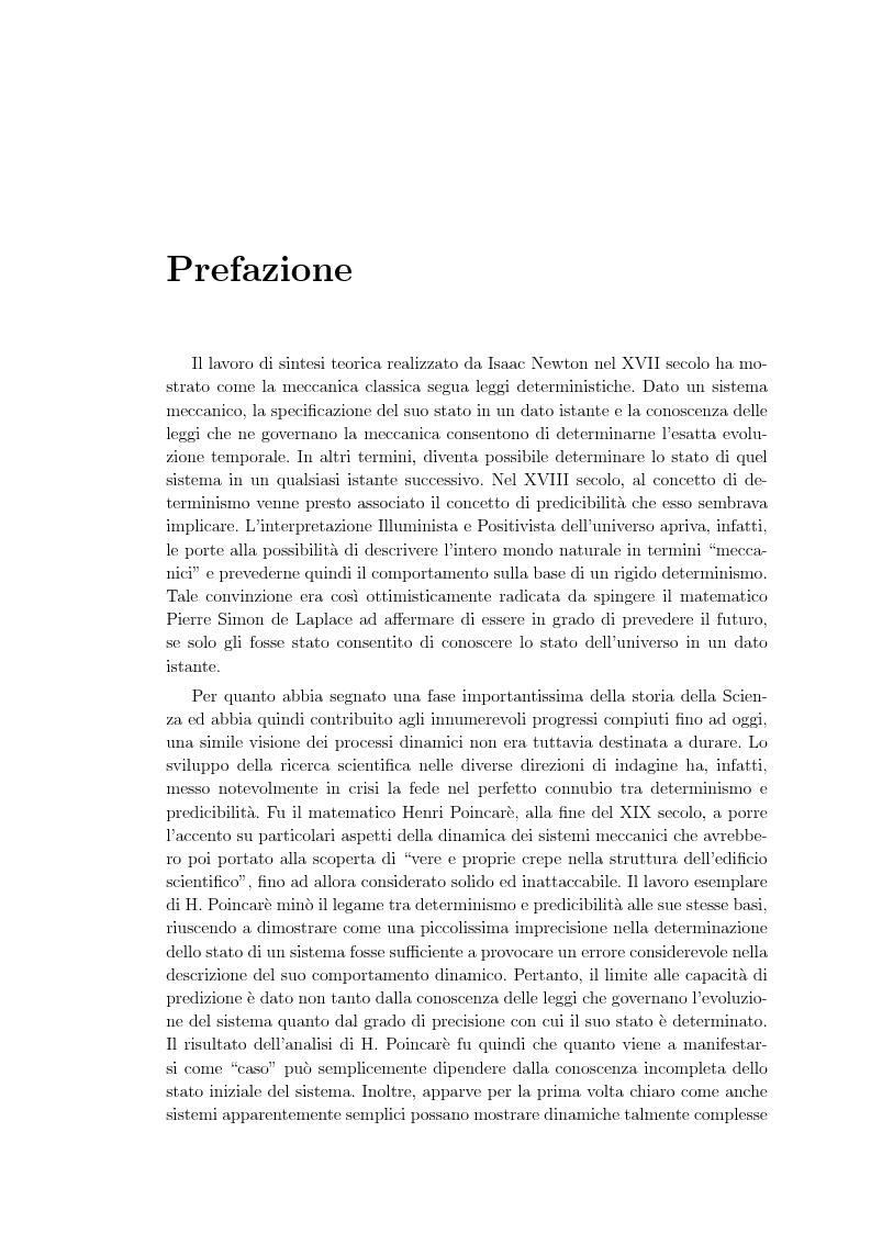 Anteprima della tesi: Non linearita e caos nella dinamica di un gas granulare. Propagazione di reazioni combustive durante l'attivazione meccanochimica., Pagina 1