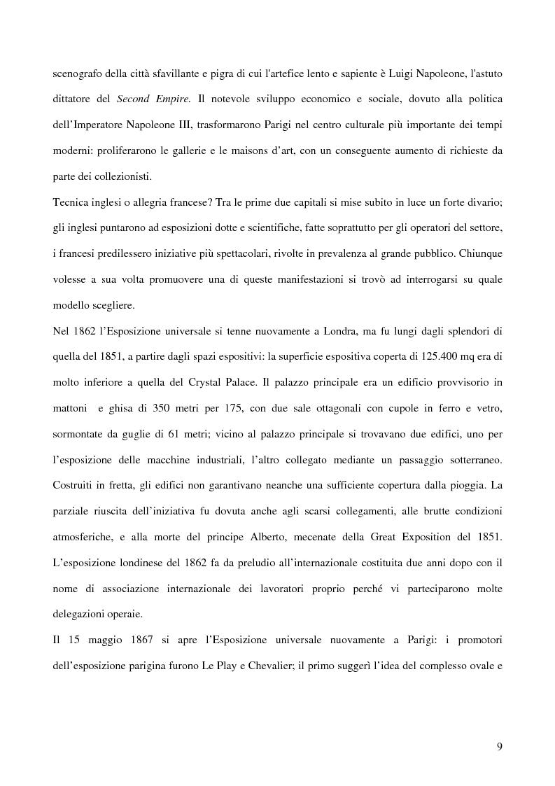 Anteprima della tesi: Affiches Posters Banners: la visibilità delle merci dalle Esposizioni universali ad Internet, Pagina 13