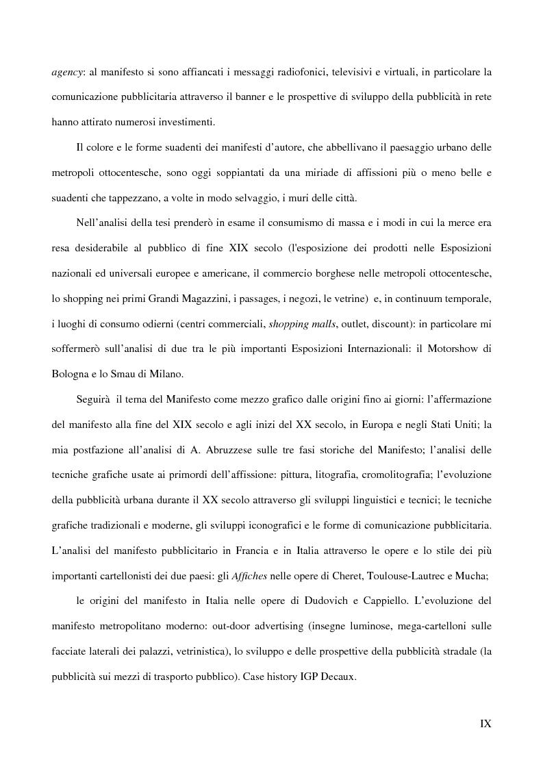 Anteprima della tesi: Affiches Posters Banners: la visibilità delle merci dalle Esposizioni universali ad Internet, Pagina 3