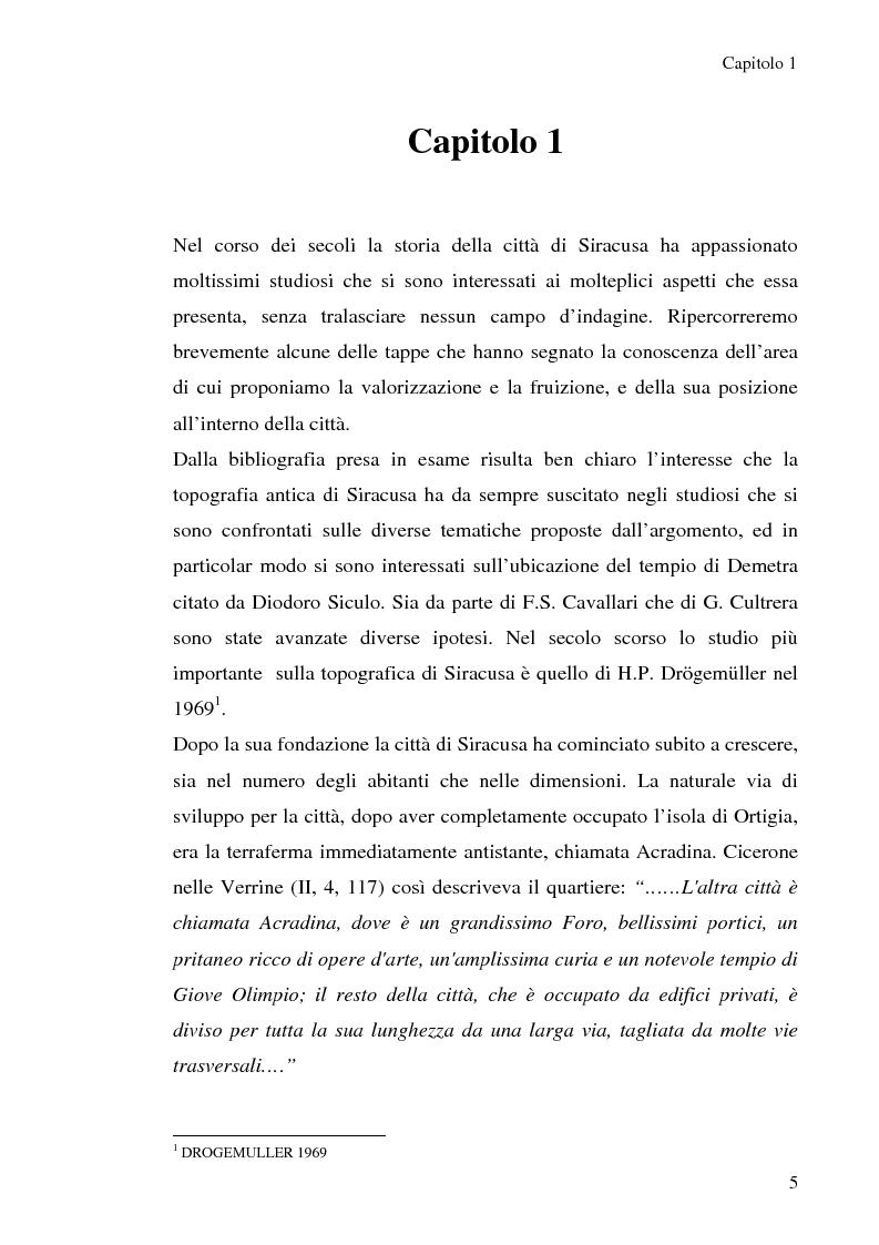 Anteprima della tesi: Area archeologica di Piazza della Vittoria: Proposta di valorizzaione e fruizione., Pagina 3