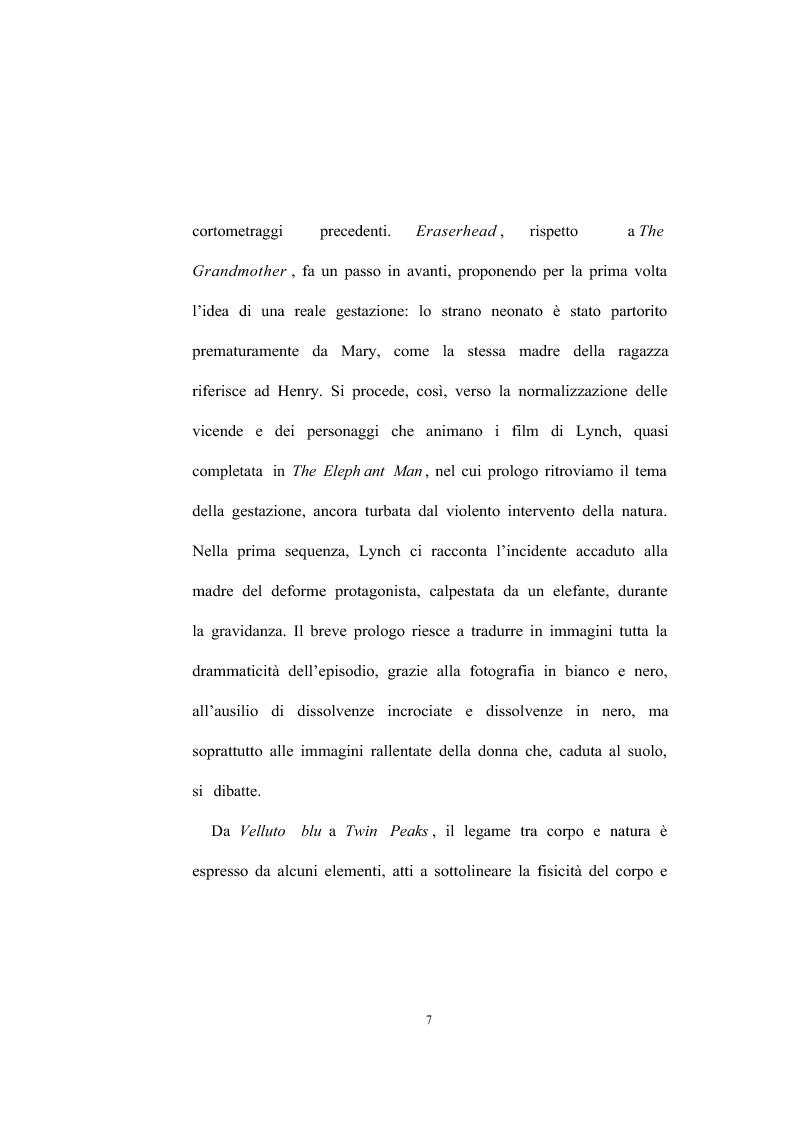 Anteprima della tesi: David Lynch - Universi speculari nel nuovo noir hollywoodiano (1969-1992), Pagina 9