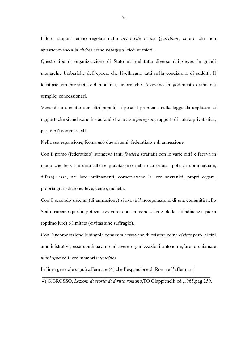 Anteprima della tesi: La condizione giuridica dello straniero nella Costituzione Italiana, Pagina 7