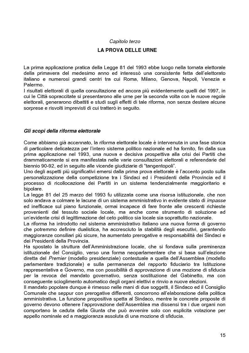 Anteprima della tesi: Le assemblee elettive locali nella transizione italiana. Analisi di un caso, Pagina 13